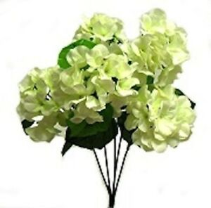 Hydrangea Flowers Cream Ivory Bush Wedding Bouquet Table Centerpiece DIY