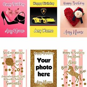 Image Is Loading PERSONALISED BIRTHDAY CARD CHILDREN BOYS GIRL MALE FEMALE