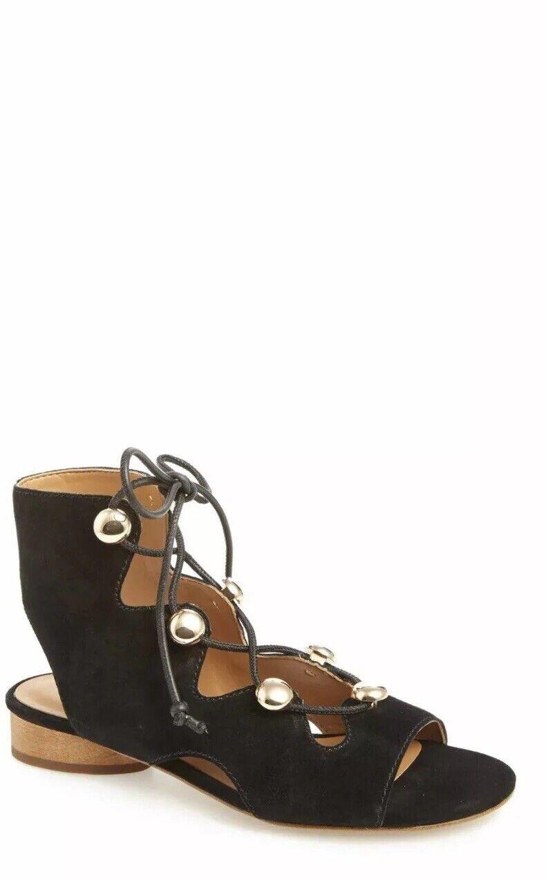 Rebecca Rebecca Rebecca Minkoff Kyla Ghillie Sandals In Black Size 8.5 1003ae