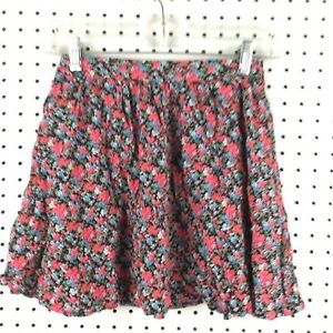 453df575b Details about Forever 21 Junior Girl's Pink Black Floral A-LIne Full Skirt  Size Extra Small XS