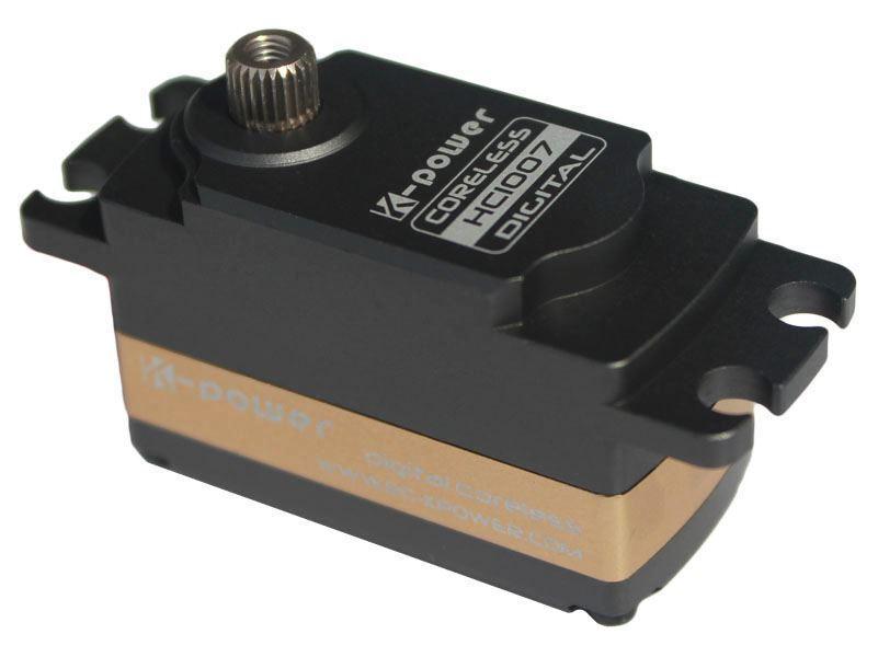 K-Power HC1007 Digital Servo Coreless HV con Caja de aleación. 12Kg 0.09s