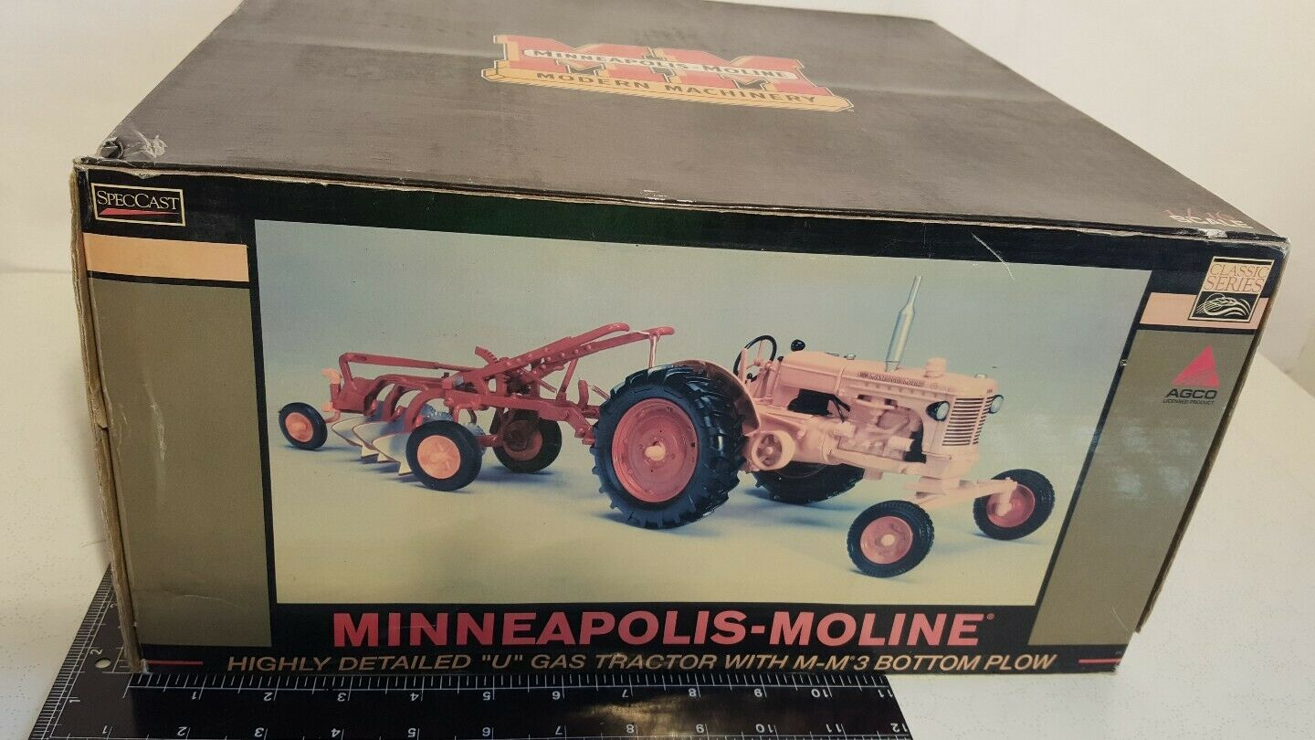 MM U w MM 3b Plow 1 16 diecast farm tractor and Implement replica by SpecCast