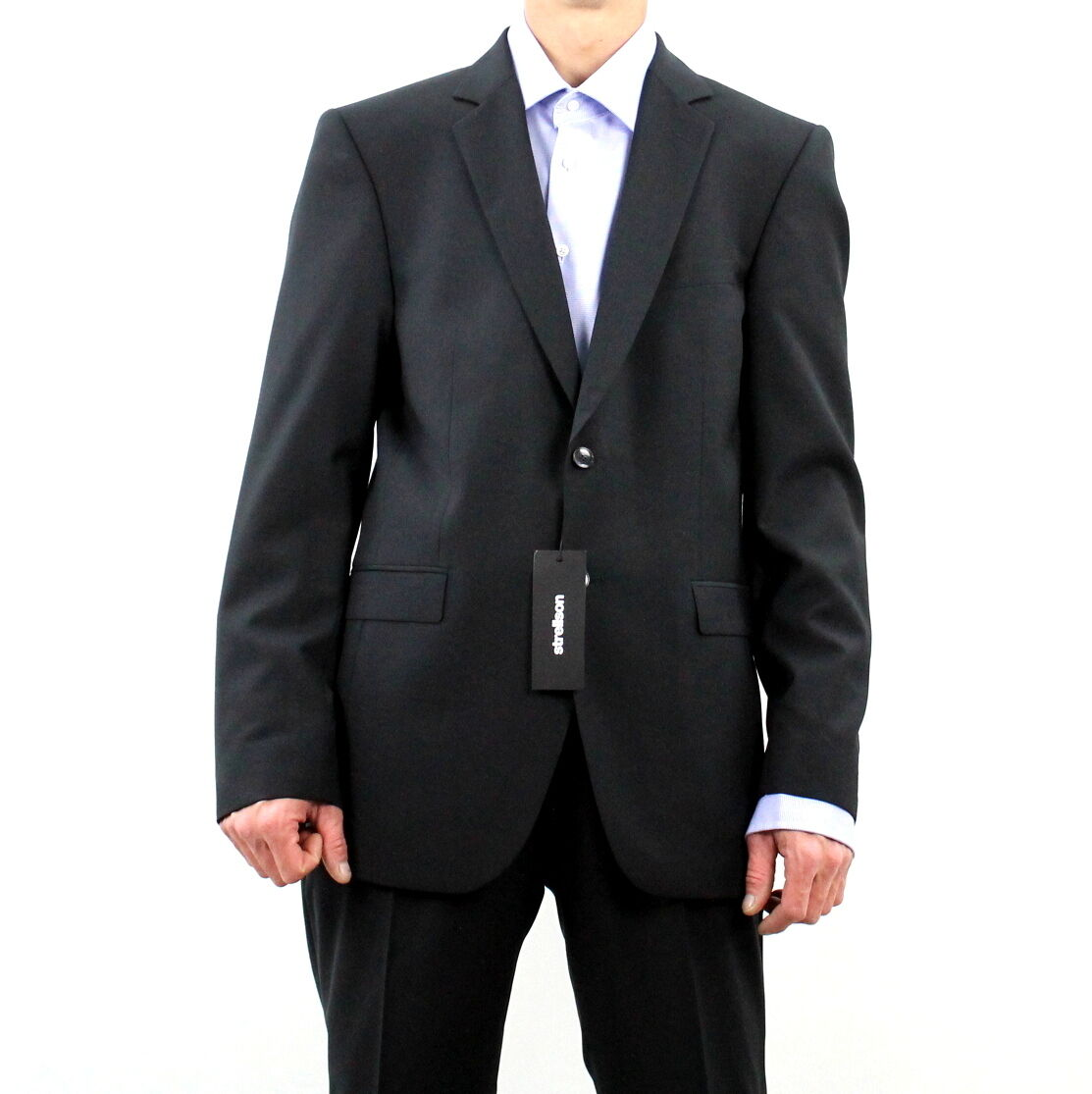Strellson Herren Gr. 46 S ANZUG Regular-Fit Hosenanzug Schurwolle Schwarz A2626  | Einzigartig  | Abgabepreis  | Hohe Qualität und günstig