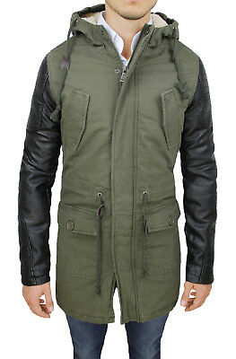 giacca verde con maniche nere uomo