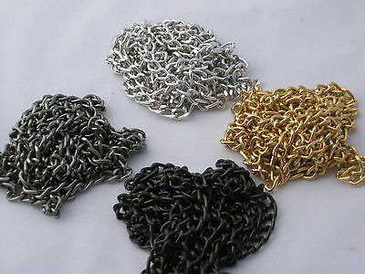 5 FEET NON TARNISH ALUMINUM CURB CHAIN TWISTED OPEN LINK UNFINISHED 6X4MM LINKS