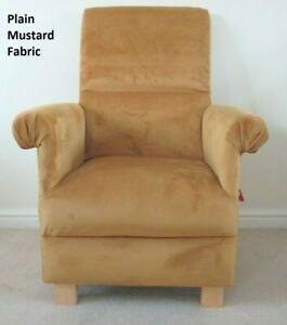 Chair Armchair Plain Mustard Fabric Accent Ochre Nursery ...