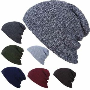 81b671d7eece53 New Fashion Women Men Winter Warm Skullies Cap Knitted Wool Beanie ...