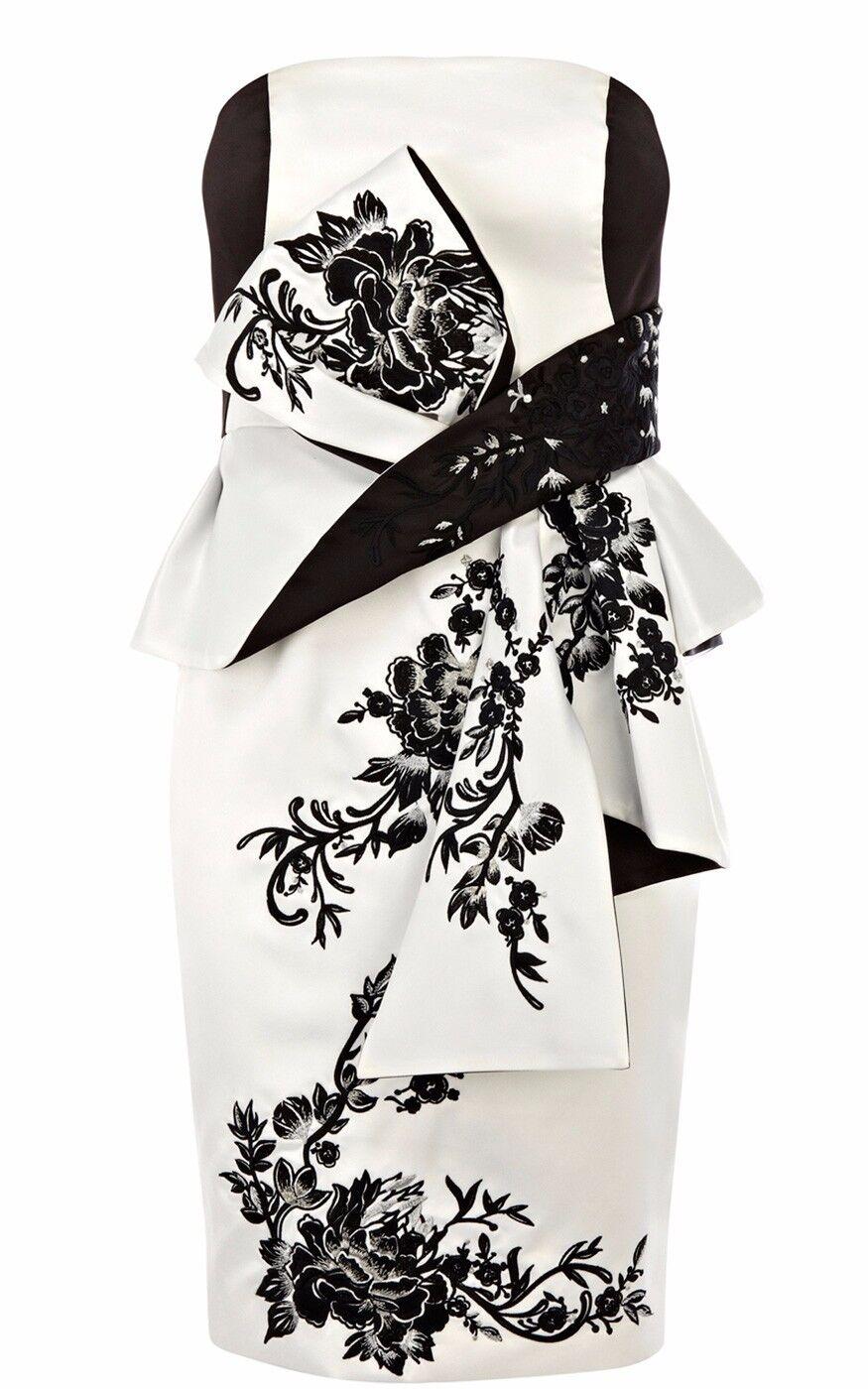 KAREN MILLEN schwarz & Weiß Embroiderot Dress