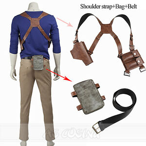 dcf0f0972b Uncharted 4 A Thief s End Nathan Drake Cosplay Accessories strap+Bag ...