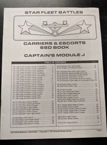 1x-Captain-039-s-Module-J-Carriers-and-Escorts-SSD-Book-Used-Damaged-Star-Trek-Sta