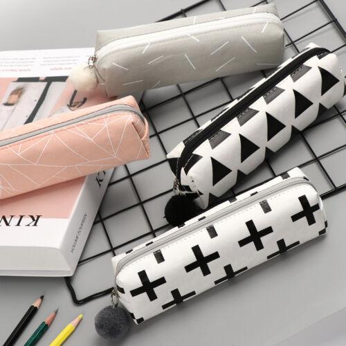 zip tasche make up box leinwand pen beutel geldbörse federmäppchen
