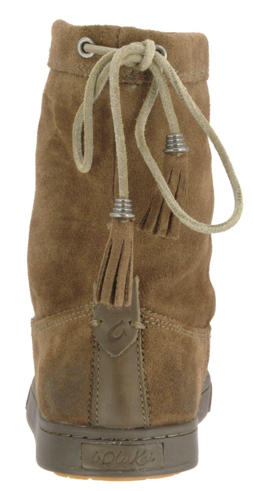 Olukai muestra 20261 para mujer de Moe engrasado engrasado engrasado cuero de gamuza Kapa Baja botas US 7 EU 37 623870
