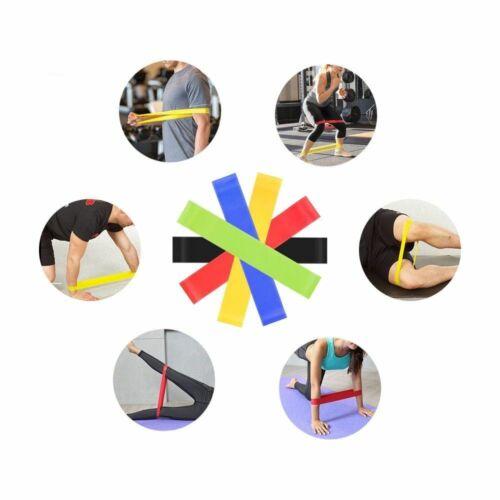 Fitnessbänder Sport Fitnessband Widerstandsband Gummiband Gymnastikband 5 Set DE