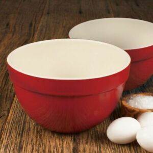 "Artisan Series ROUSSEAU 7.25"" and 8.25"" Mixing Bowl Set for Cooking and Baking"