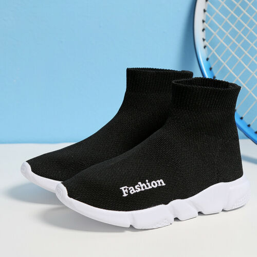 Kids Shoes Trail Running Sneaker Outdoor Slip-on Soft Knit Sock Shoes for Boys
