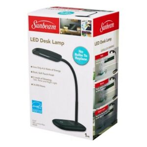 New Sunbeam Flexible Neck Led Desk Lamp Adjustable Light
