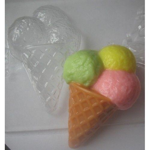 "/""ICE Cream/"" jabón de plástico Molde Molde de fabricación de jabón"