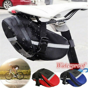 Waterproof Bike Saddle Bag Bicycle Under Seat Storage Tail Pouch Cycling Bags US