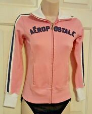 Aeropostale Authentic Brand Varsity Athletics Jacket Pink & White Zip-up XXS