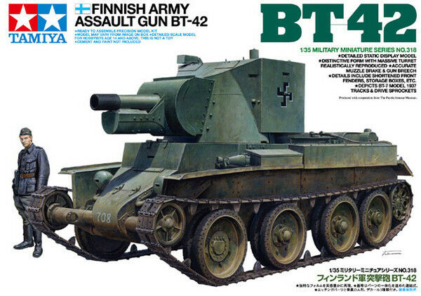 1 35 TAMIYA KIT CARRO DA ASSALTO FINNISH ARMY ASSAULT GUN BT-42 35318