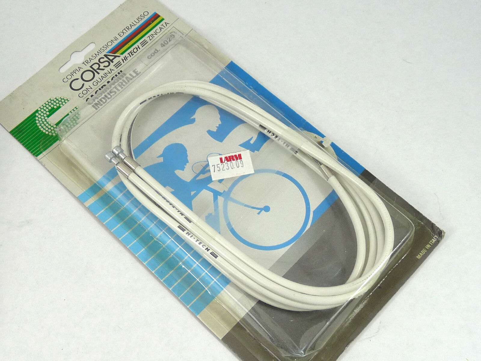 Casiraghi Corsa Hi Tech Road Bicycle Brake Cables & White Housing Wire NOS