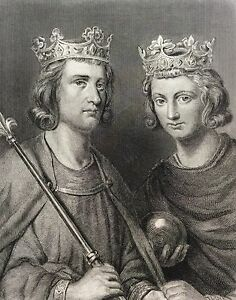Louis-III-and-Carloman-Painted-per-Steuben-Engraved-per-Oudaille-Xixth