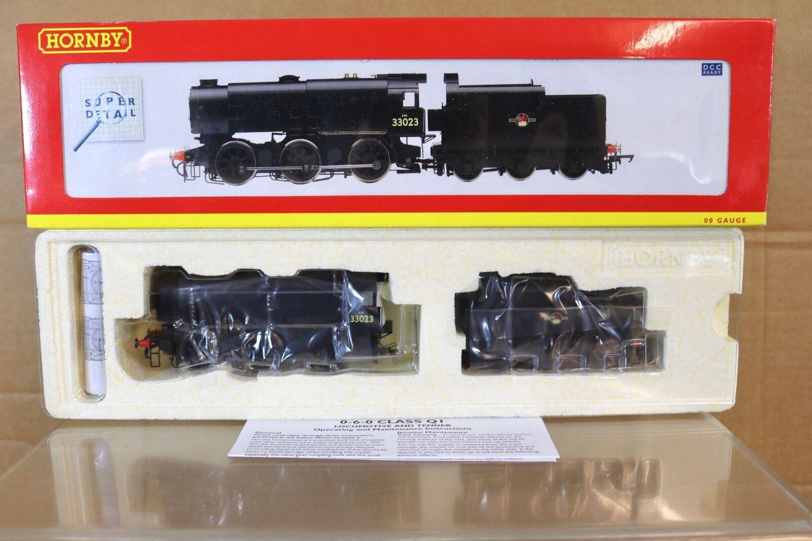 Hornby R2537 DCC Listo Br black 0 6 0 Class Q1 Locomotoras 33023 Menta en Caja