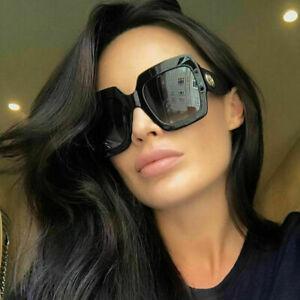 NEW-Oversized-Square-Sunglasses-Retro-Vintage-Fashion-Eyewear-Women-Large-Shades