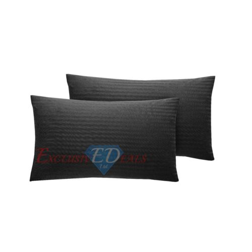 100/% PURE COTTON SATEEN STRIPE 300TC Duvet Quilt Cover Bedding Set ALL SIZES