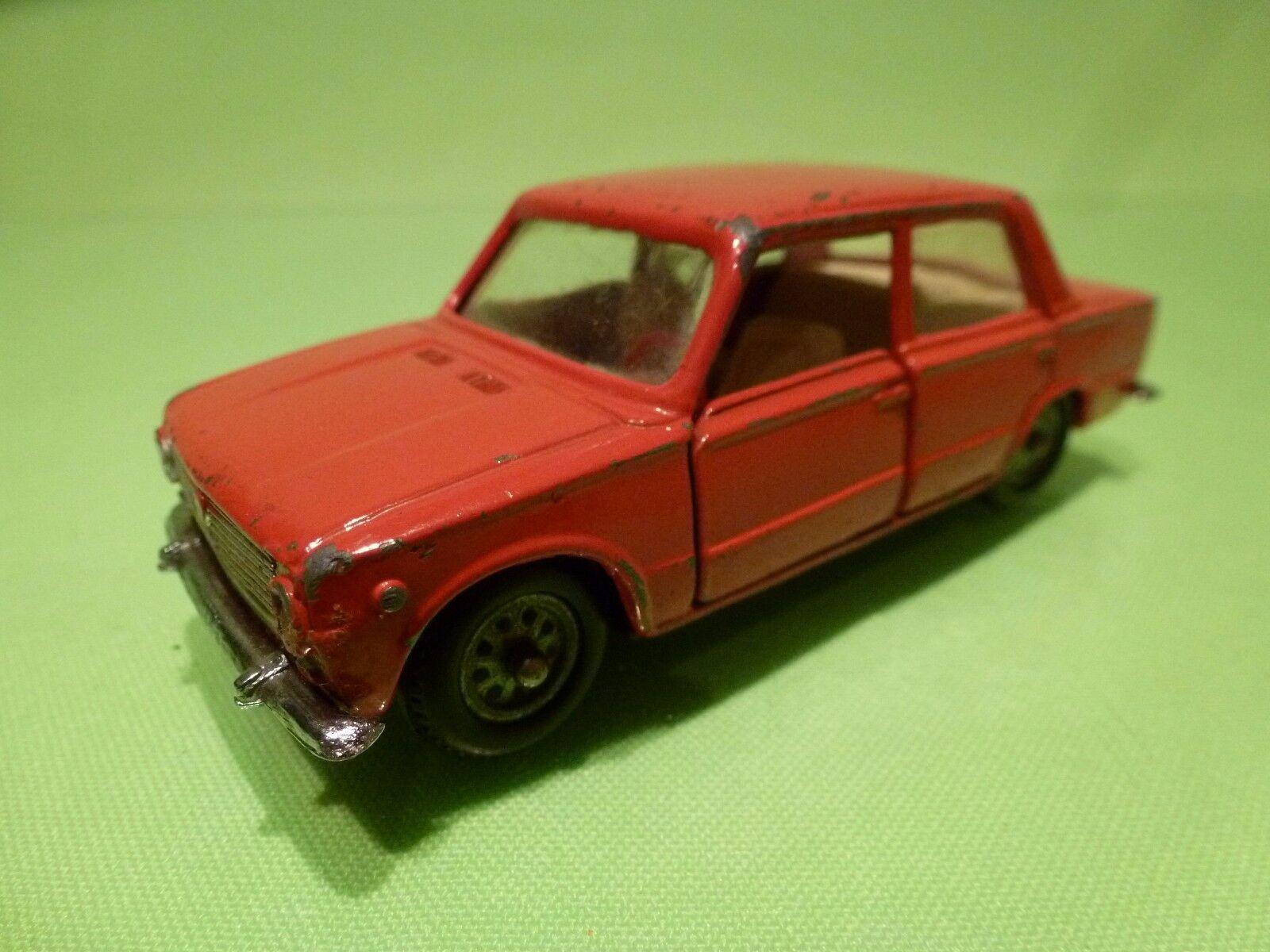 MERCURY FIAT 124 - rouge + BROKEN blanc INTERIOR 1 43 - GOOD CONDITION