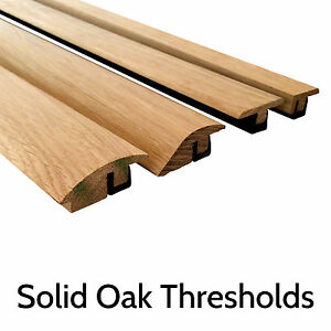 Image is loading Solid-Oak-Threshold-Door-Bar-Trims-Strip-for-  sc 1 st  eBay & Solid Oak Threshold Door Bar Trims Strip for Wood Flooring Ramp T ...