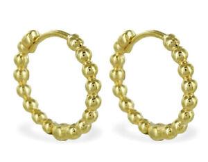 ECHT GOLD *** Kleine feine Kugel Creolen Ohrringe 13 mm | eBay