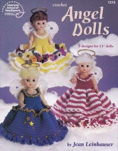 "NEW CROCHET ANGELS DOLLS 5 DESIGNS FOR 13/"" DOLLS"