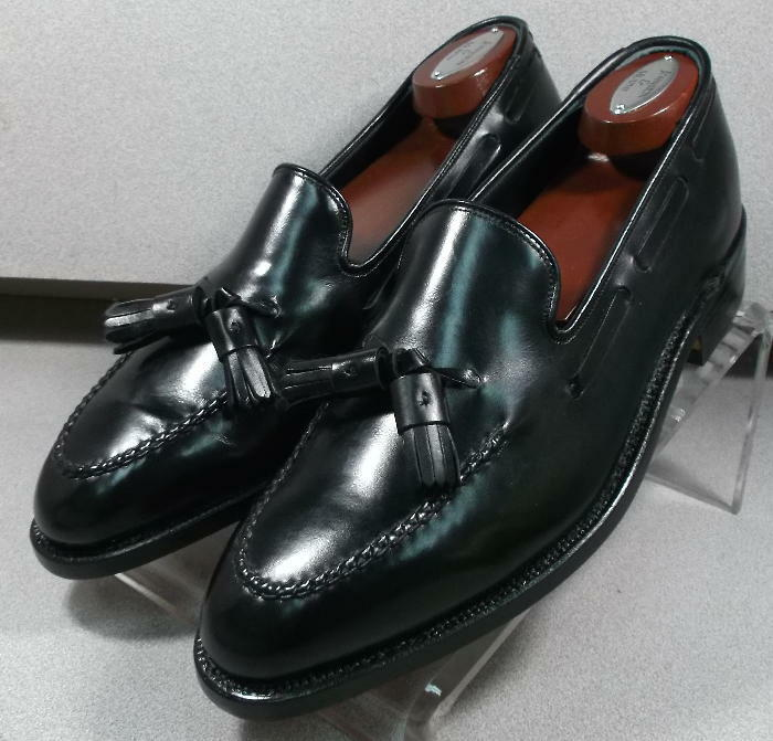 244901 ESCR50 Men's Shoes 13 M Black Leather Crown Made Made Crown in USA Johnston Murphy 4ad7b1