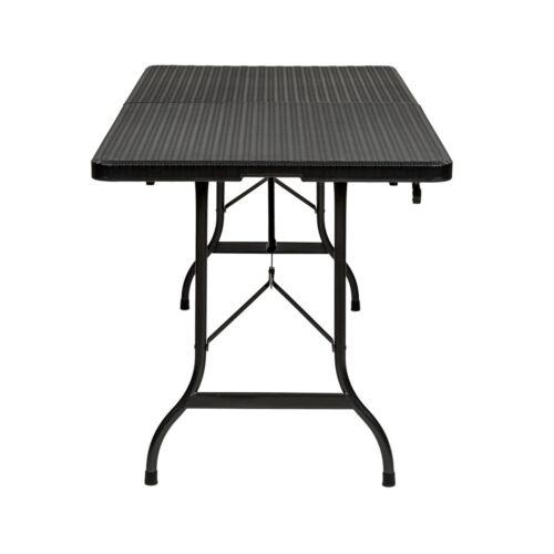 Campingtisch Klapptisch Tisch Bierzelttisch Beistelltisch Rattanoptik B-Ware