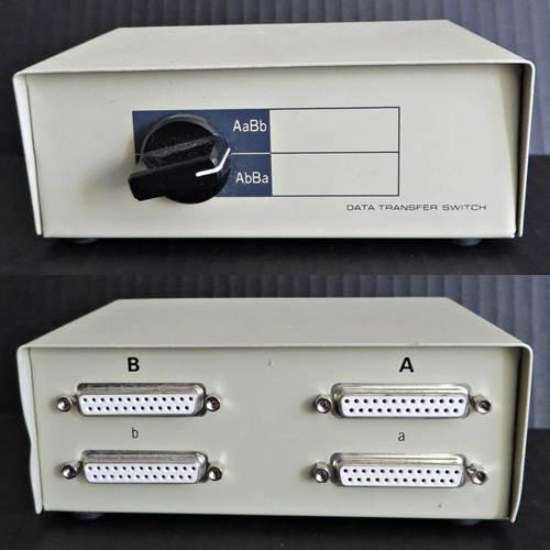 Compu Kit Db-25 4 Ports Female Manual Crossover Data Switch Metal Case 04442