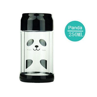 250ml Minions Cartoon Water Bottle Glass Coffee Mug Double-deck Borosilicate Cup