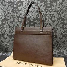 Rise-on LOUIS VUITTON EPI CROISETTE PM Dark Brown Handbag Shoulder Bag #5 t