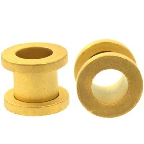 Matte Gold Anodized Over Surgical Steel Screw-on Plugs Tunnels 1 Pair