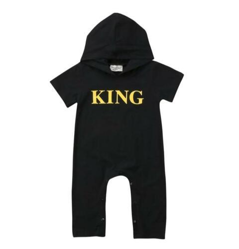 Jumpsuit One-Piece Baby Boy Short Sleeve King Romper