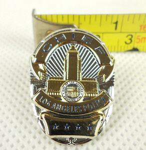 Nice Us Lapd Chief Mini Police Badge Pin H069 Ebay