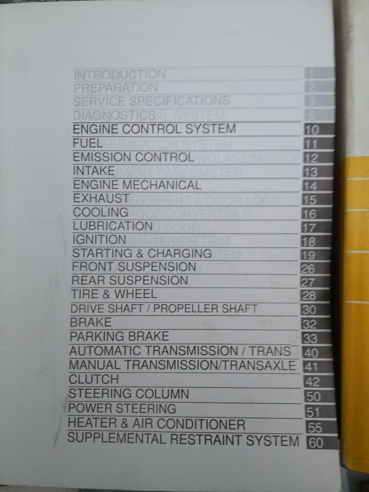 Værkstedsbøger, Toyota Corolla