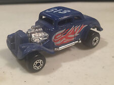MATCHBOX '33 WILLYS STREET ROD MADE IN CHINA WHITE HEAT 313 BLUE HOT ROD