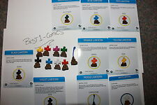 heroclix dc brave and bold lantern oblects le set all 9 red/yellow/blue/green/