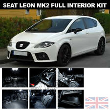 Seat Leon Mk2 FR 1P1 05-12 komplett LED Innenleuchte Set - strahlend Weiß Xenon