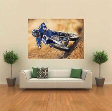 YAMAHA MOTOCROSS BIKE BLUE NEW GIANT ART PRINT POSTER PICTURE WALL X1440