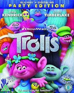 Trolls-Blu-Ray-Party-Edition-Animated-Movie-Cartoon-Genuine-R2