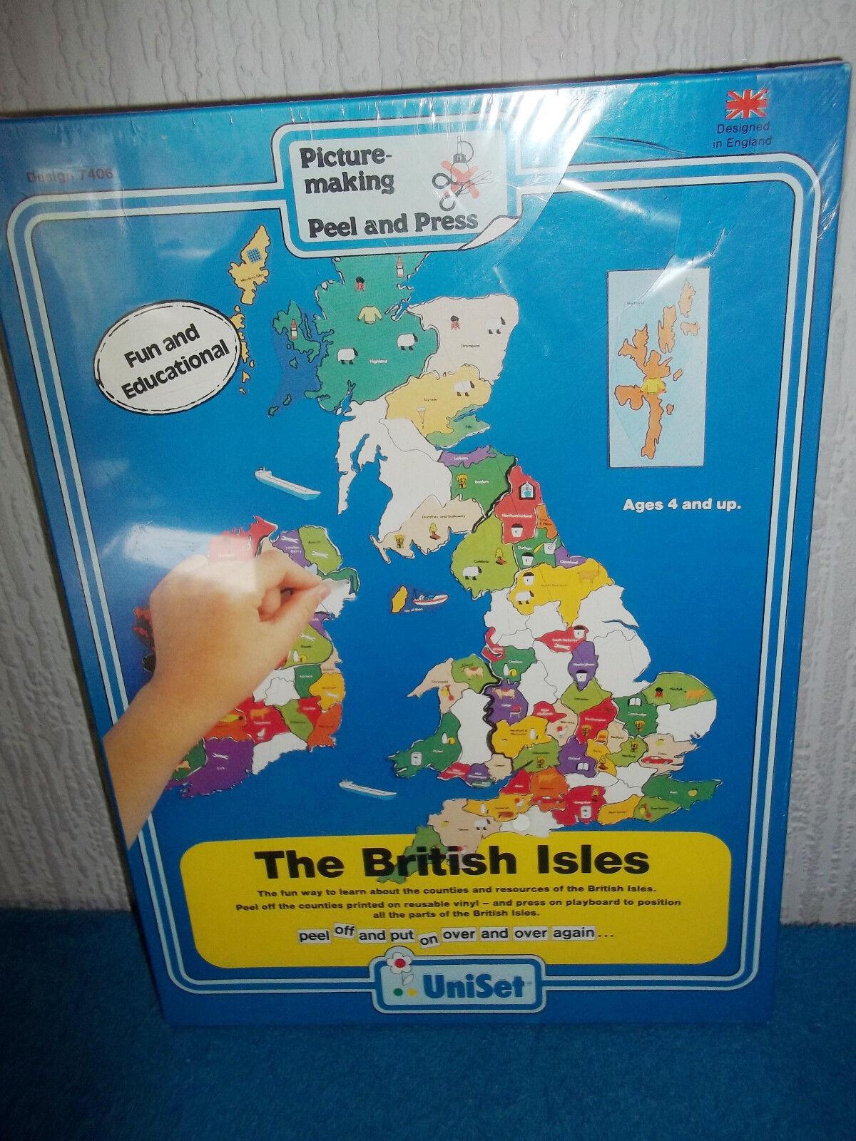 THE BRITISH ISLES - UNISET PICTURE-MAKING KIT - PRESS & PEEL VINYL - NEW SEALED