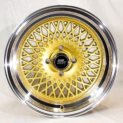 MST MT05 15x8 4x100 et20 Gold Wheels Rims Fits Carrado Del So Civic Crx