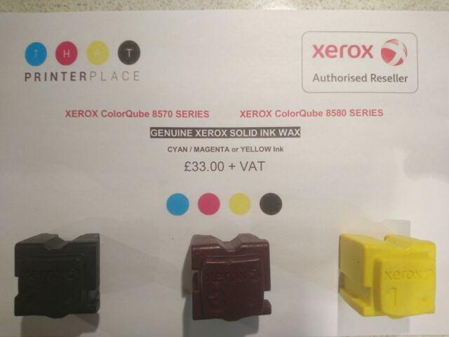 8580 CMKY INK set GENUINE XEROX ColorQube 8570